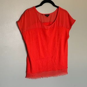 Guess orange layered top size XS